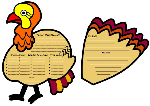 Twas the Night Before Thanksgiving Dav Pilkey Turkey Writing Templates and Activities