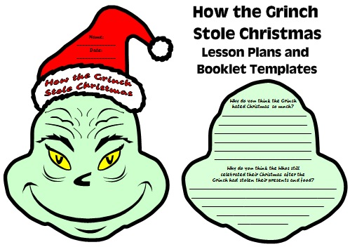 How the Grinch Stole Christmas Dr. Seuss Fun Projects and Templates for Students