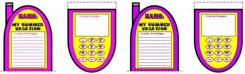 Our Summer Vacations Creative Writing Project Templates