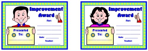 Student Improvement Award Certificate For All Subjects