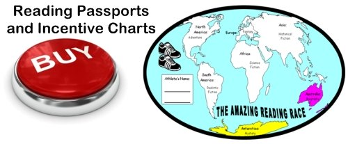 Reading Passports and Incentive Sticker Charts Map Templates For Students