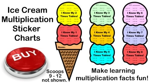 Fun Multiplication Sticker Charts For Math Students