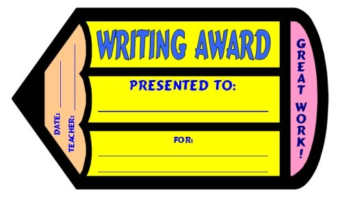 Free Creative Writing Award Certificate for Elementary Students