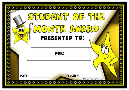 Superb image intended for printable awards for students