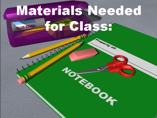 Parent Open House Powerpoint Classroom Supplies and Materials