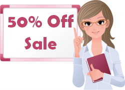 50% Off Sales and Discounts for Elementary School Teachers