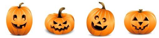 Halloween Row of Pumpkins 1
