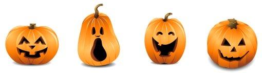 Halloween Row of Pumpkins 2