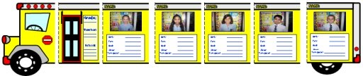 Back to School Bus Shaped Creative Writing Templates for Elementary School