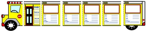 Back to School Bus Writing Templates Activity for Elementary Students