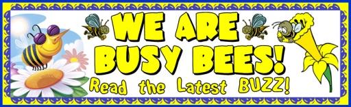 Bee Bulletin Board Display Banner Spring Printable Worksheets