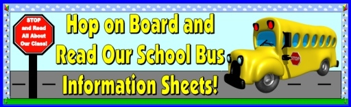 Back To School Bus Templates Bulletin Board Display Banner