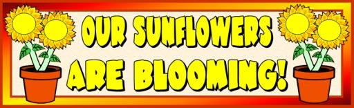 Sun Flower Bulletin Board Display Banner Spring Printable Worksheets