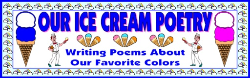Color Poems Ice Cream Templates Bulletin Board Display Ideas