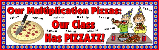 Math Multiplication Facts Sticker and Incentive Charts Bulletin Board Display