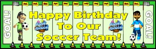 Soccer Happy Birthday Classroom and Bulletin Board Display Sports Theme