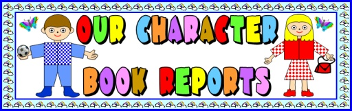 Character Body Book Report Projects Templates Bulletin Board Display Banner