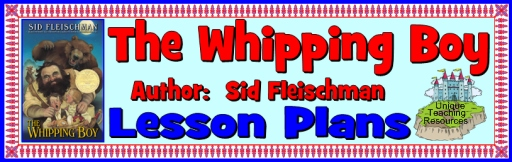 The Whipping Boy by Sid Fleischman Lesson Plans and Teaching Resources