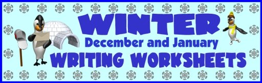 Christmas and Winter Printable Worksheets for Fun Creative Writing Activities