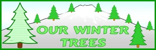 Winter Tree Bulletin Board