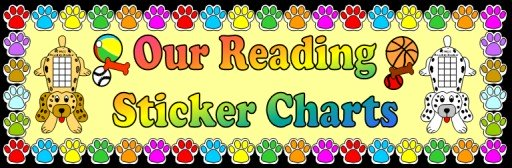 Free Dog Reading Sticker Charts and Bulletin Board Display Ideas