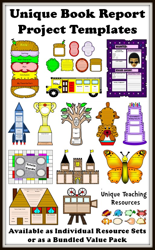 25 book report templates extra large fun and creative