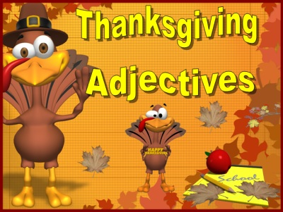 Adjectives Powerpoint Lesson Plans for Thanksgiving