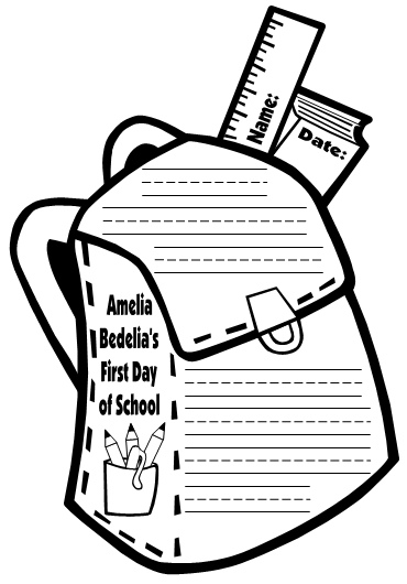 Amelia Bedelia First Day of School Writing Project Templates