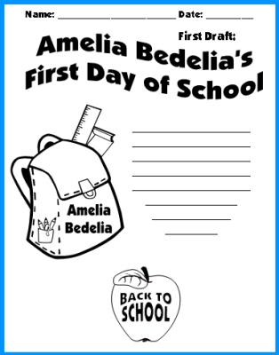 Amelia Bedelia Creative Writing Topic First Draft Worksheet