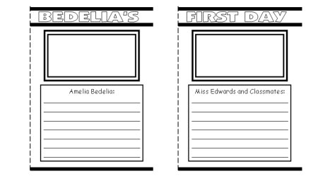 Amelia Bedelia Group Project School Bus Templates and Worksheets