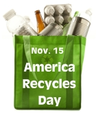 America Recycles Day November 15 Lesson Plans and Writing Prompts