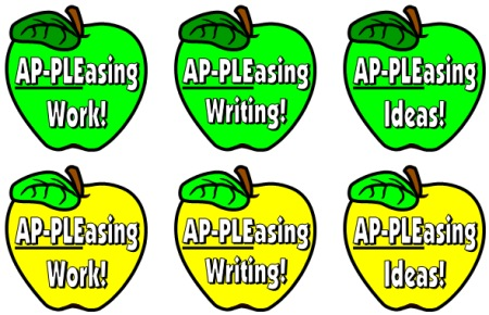 Apple Theme Bulletin Board Display Accent Pieces for Elementary Classroom