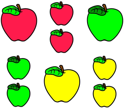 Apple Theme Bulletin Board Display Accent Pieces for Primary School Students