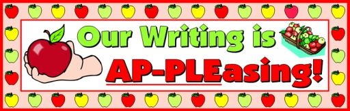 Apple Creative Writing Templates for Back To School