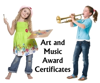 Art and Music Awards and Certificates for Elementary School Students