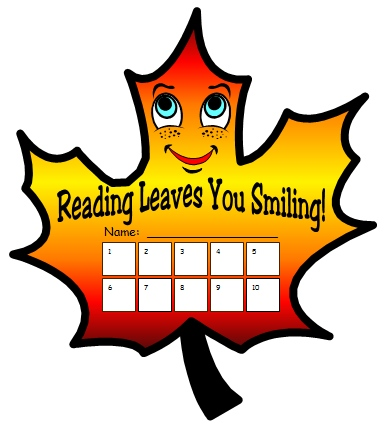 Autumn and Fall Leaf Printable Reading Sticker Charts and Worksheets