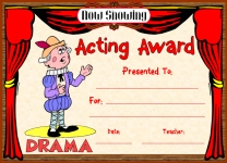 Acting in Play Awards and Certificates