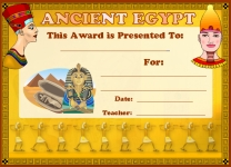 Ancient Egypt Social Studies Awards and Certificates