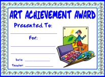 Art Achievement Awards and Certificates