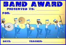 Band Awards and Certificates