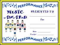 Choir Performance Awards and Certificates