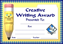 Creative Writing Awards and Certificates
