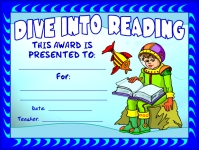 Dive Into Reading Awards and Certificates