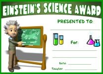 Einstein Science Awards and Certificates