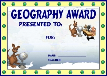 Geography Kangaroo Awards and Certificates