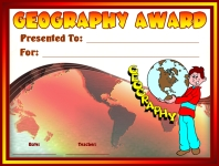 Geography Student Awards and Certificates