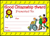 Good Citizenship Awards and Certificates