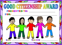 Good Citizenship Children Awards and Certificates
