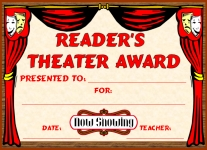 Readers Theater Awards and Certificates