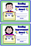 Reading Improvement Awards and Certificates